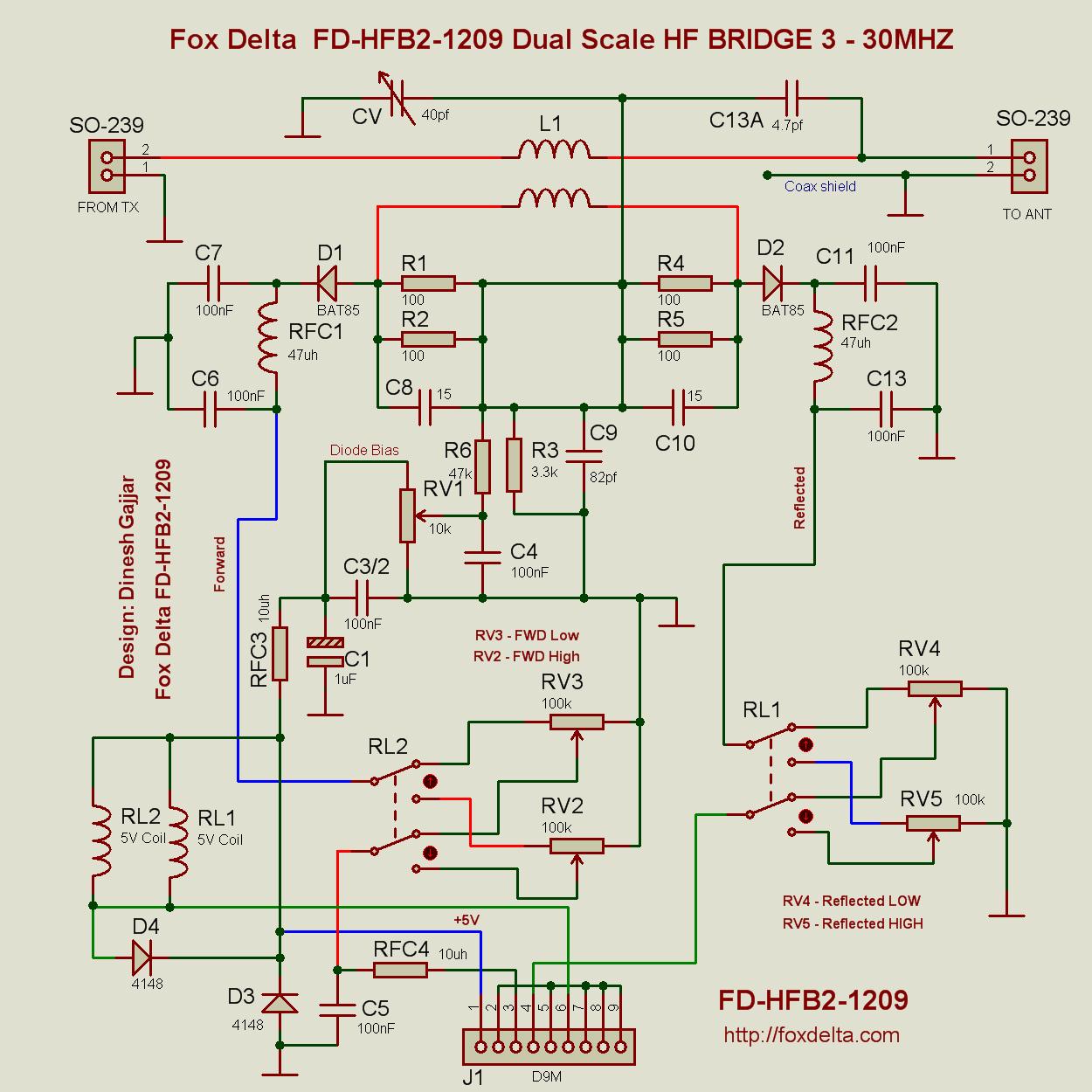 Hf Swr Schematic Wire Data Schema Af15tri 15 Amp Afci Arc Fault Circuit Interrupter Ivory Fox Delta 100w To 1kw Dual Scale Bridge By Tony I2tzk Frank Rh Foxdelta