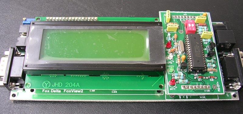 FoxView2::PIC16F628A 4x20 LCD APRS Terminal & Tracker, Kiss