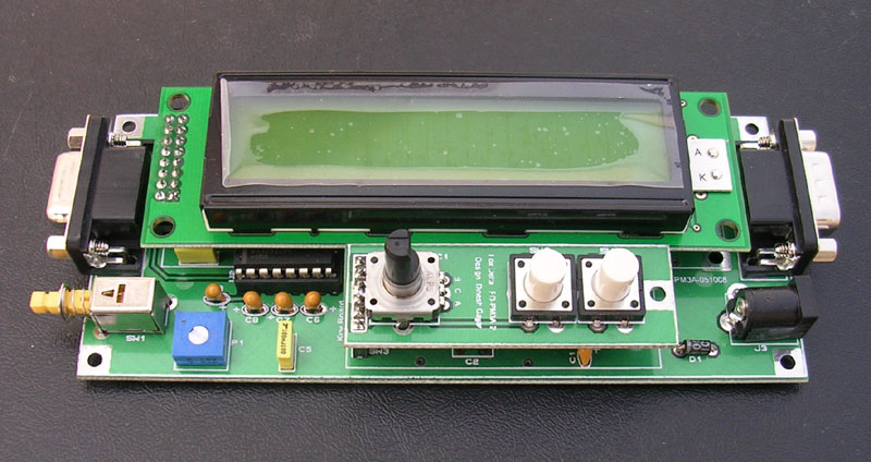 PM3A::Dual Channel PIC16F876A 500MHZ LCD RF Power Meter With Data