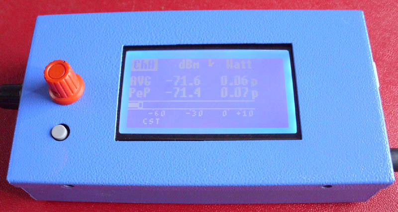 Fox Delta PIC18F4550 Graphic LCD 500MHZ Dual Channel RF Meter By